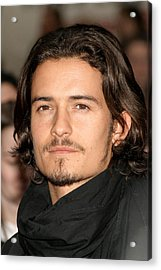 Orlando Bloom At Arrivals For Kingdom Acrylic Print by Everett