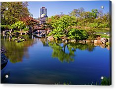 Osaka Japanese Garden Acrylic Print by Jonah  Anderson