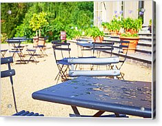Outdoor Cafe Acrylic Print by Tom Gowanlock
