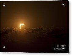 Partial Solar Eclipse Acrylic Print by Phillip Jones