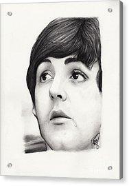Paul Mccartney Acrylic Print by Rosalinda Markle