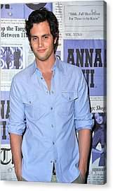 Penn Badgley At Arrivals Acrylic Print by Everett