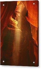 Pillars Of Light - Antelope Canyon Az Acrylic Print by Christine Till