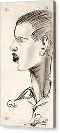 Portrait Acrylic Print by Odon Czintos