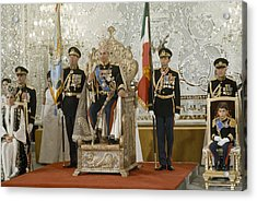 Portrait Of The Shah Of Iran Taken Acrylic Print by James L. Stanfield