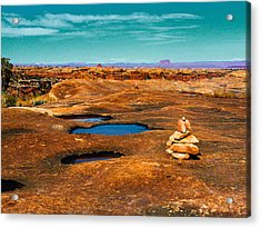 Pothole Point Acrylic Print by Sean  Eckel
