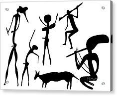 Primitive Art - Various Figures Acrylic Print by Michal Boubin