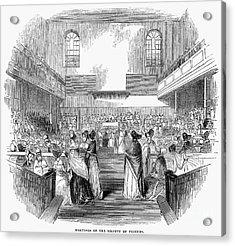 Quaker Meeting, 1843 Acrylic Print by Granger