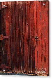 Red Shed Acrylic Print by RC DeWinter