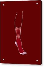 Red Sock Acrylic Print by Frank Tschakert