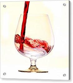 Red Wine Acrylic Print by Michal Boubin