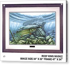 Reef King Musky Acrylic Print by JQ Licensing