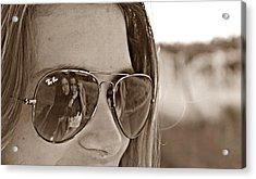 Reflected Friends Acrylic Print by Jenny Senra Pampin