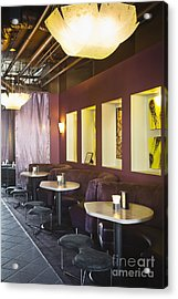 Restaurant Bar Seating Acrylic Print by Andersen Ross