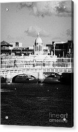 River Liffey Dublin City Center Acrylic Print by Joe Fox