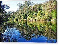 River Reflections Acrylic Print by Kaye Menner