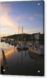 River Suir, From Millenium Plaza Acrylic Print by The Irish Image Collection
