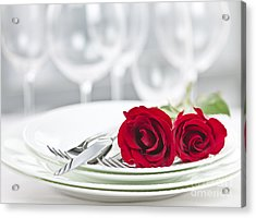 Romantic Dinner Setting Acrylic Print by Elena Elisseeva