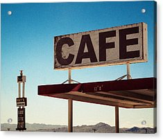 Roy's Cafe Acrylic Print by Aurica Voss