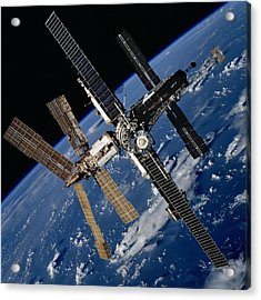 Russian Space Station Mir. Photo Acrylic Print by Everett