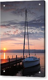 Sailboat And Lake II Acrylic Print by Steven Ainsworth