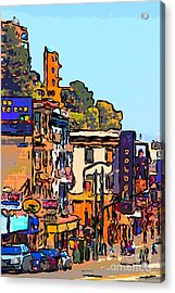 San Francisco Broadway Acrylic Print by Wingsdomain Art and Photography