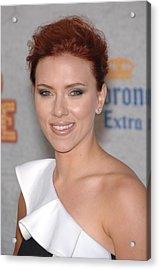 Scarlett Johansson At Arrivals Acrylic Print by Everett
