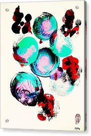 School Of Fugu's Acrylic Print by Roberto Prusso