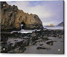 Sea Arch At Pfeiffer Beach Big Sur Acrylic Print by Tim Fitzharris
