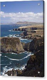 Sea Cliffs And Coastline Near Erris Acrylic Print by Gareth McCormack