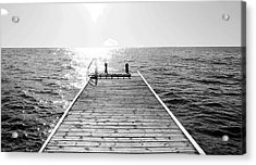 Sea Jetty Acrylic Print by Smallfort Photography Collection