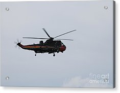 Sea King Helicopter Of The Belgian Army Acrylic Print by Luc De Jaeger
