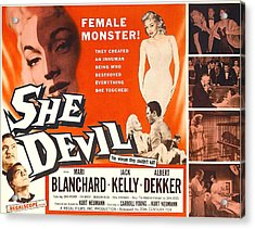 She Devil, Blonde Woman Featured Acrylic Print by Everett