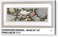Shore Stones Acrylic Print by JQ Licensing