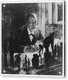 Sigmund Freud, Austrian Psychologist Acrylic Print by Humanities & Social Sciences Librarynew York Public Library