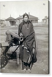 Sioux Warrior, 1891 Acrylic Print by Granger
