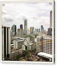 Skyline Of Bangkok Acrylic Print by Ixefra