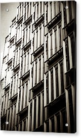 Slatted Window Architecture Acrylic Print by Lenny Carter