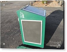 Solar Powered Trash Compactor Acrylic Print by Photo Researchers, Inc.