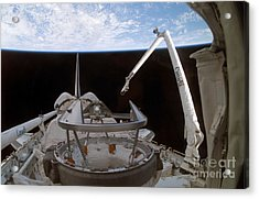Space Shuttle Discoverys Payload Bay Acrylic Print by Stocktrek Images