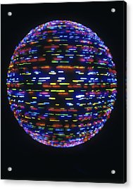 Spinning Globe Acrylic Print by Lawrence Lawry