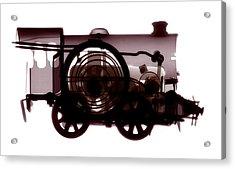 Spring Train, X-ray Acrylic Print by Neal Grundy
