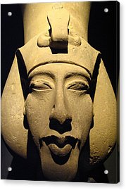 Statue Of Pharaoh Akhenaten, Also Known Acrylic Print by Richard Nowitz