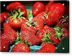 Strawberries Acrylic Print by Cathie Tyler