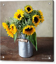 Sunflowers Acrylic Print by Nailia Schwarz