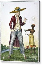 Surinam: Slave Owner, 1796 Acrylic Print by Granger