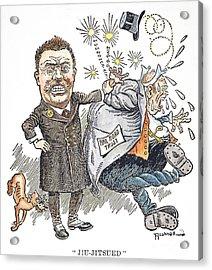 T. Roosevelt Cartoon Acrylic Print by Granger