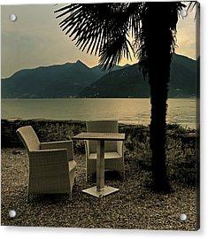 Table And Chairs Acrylic Print by Joana Kruse