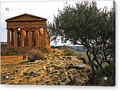 Temple Of Concordia Acrylic Print by Steve Bisgrove