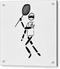 Tennis Guy Acrylic Print by Robin Lewis